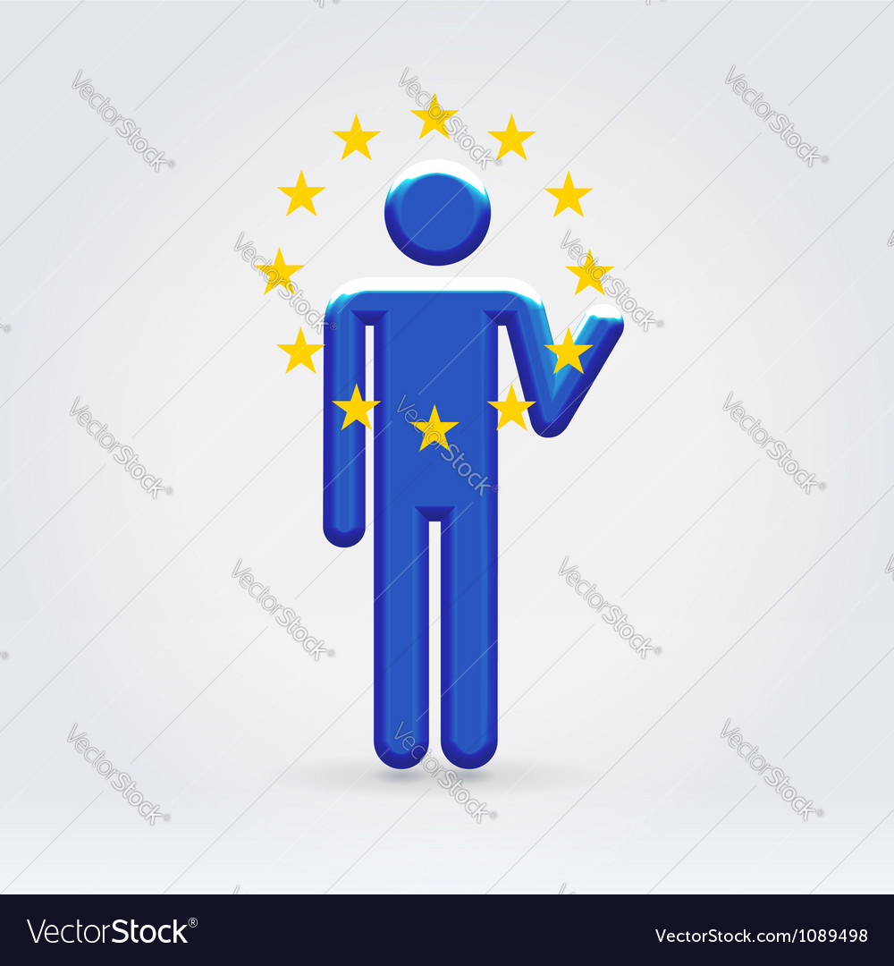 European union symbolic citizen icon vector | Price:  Credit (USD $)