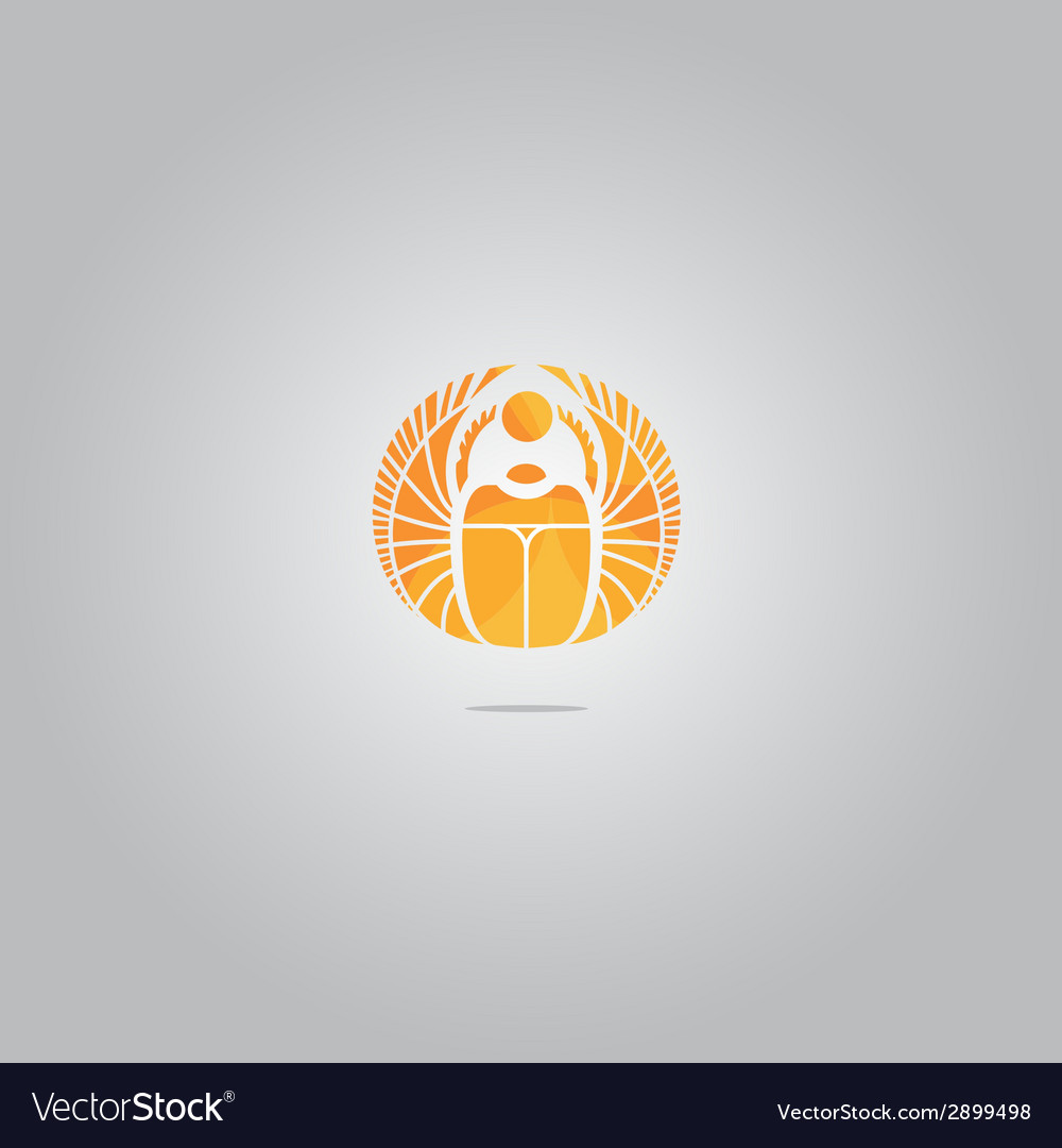 Gold scarab logo vector | Price: 1 Credit (USD $1)