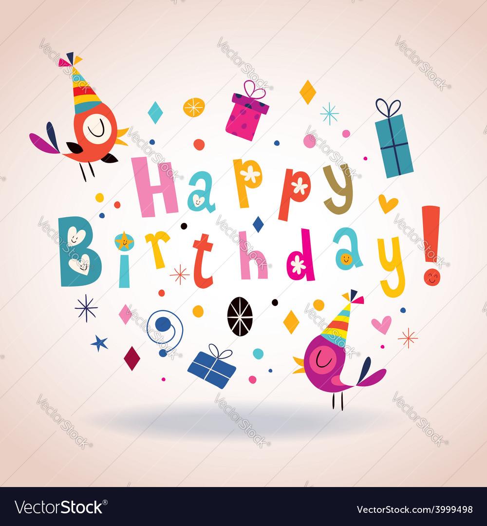 Happy birthday card 5 vector | Price: 1 Credit (USD $1)