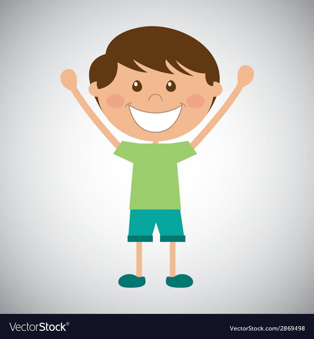 Happy kid vector | Price: 1 Credit (USD $1)