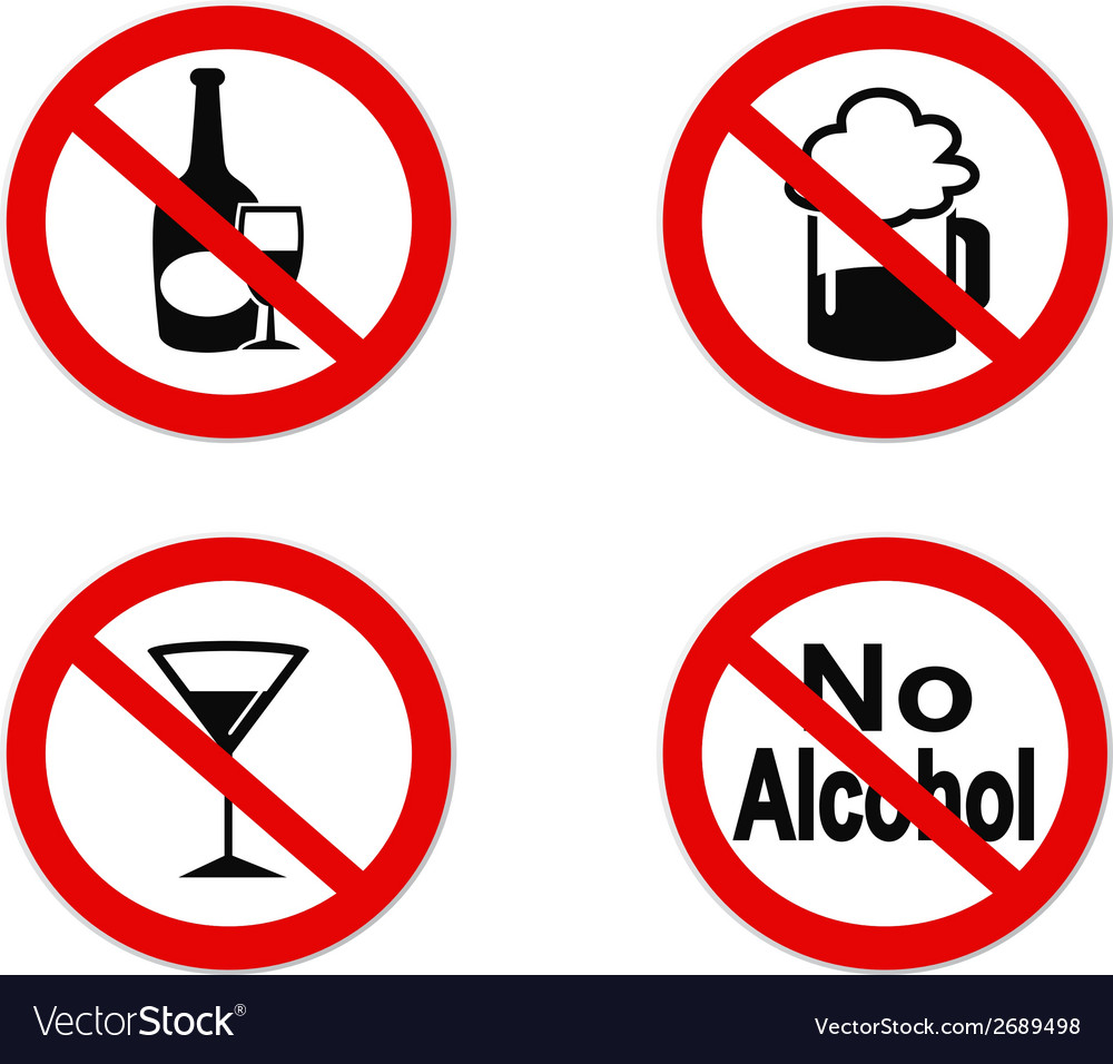 No alcohol sign icon vector | Price: 1 Credit (USD $1)