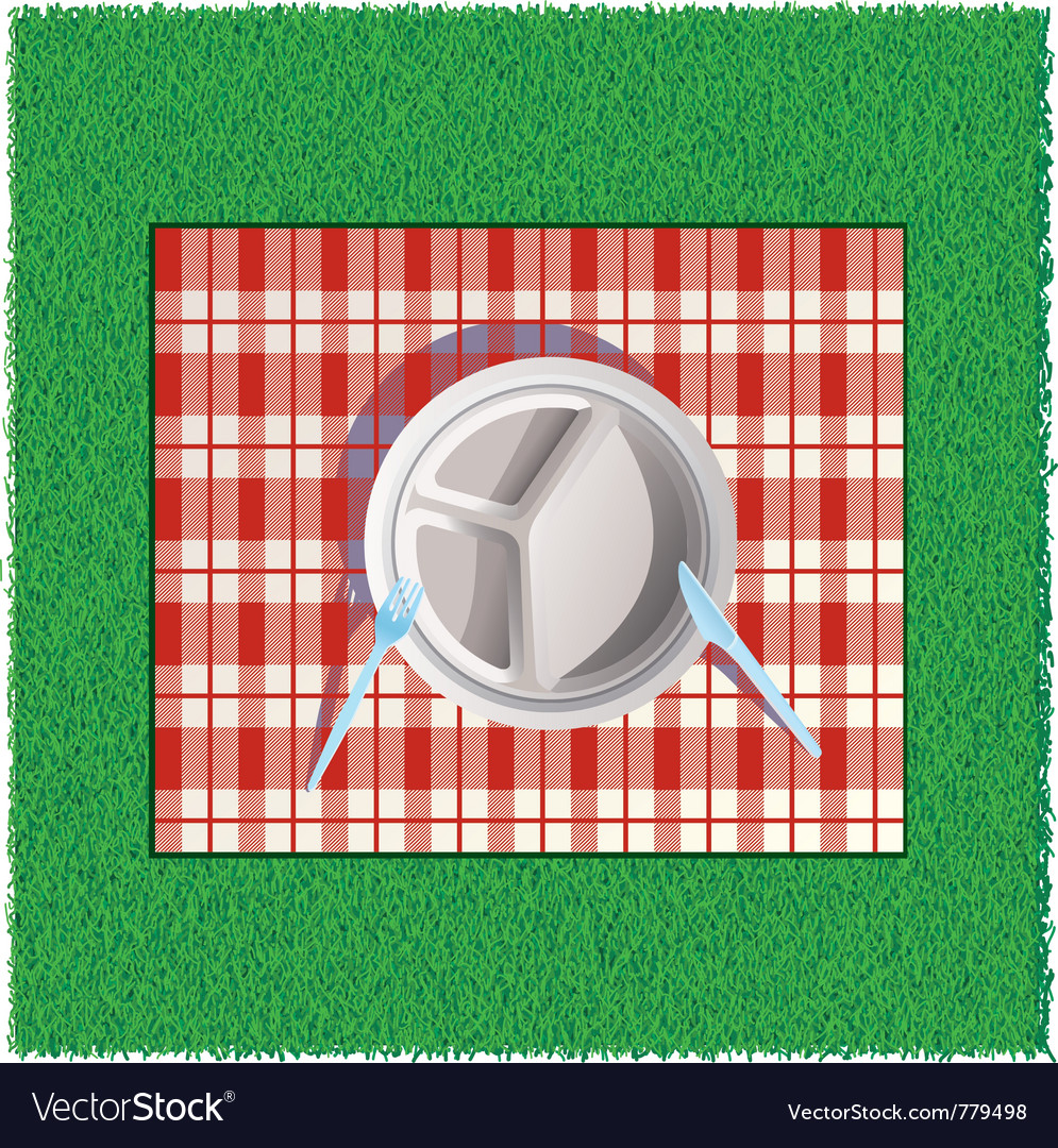 On picnic vector | Price: 1 Credit (USD $1)