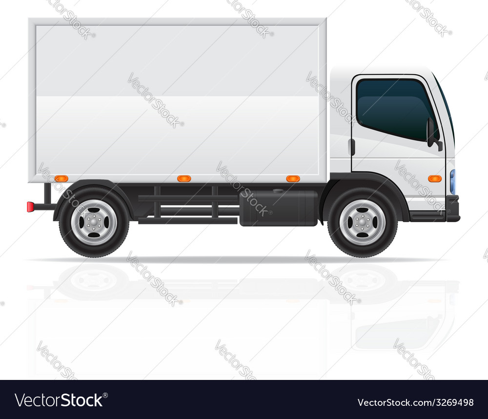 Small truck 02 vector | Price: 3 Credit (USD $3)