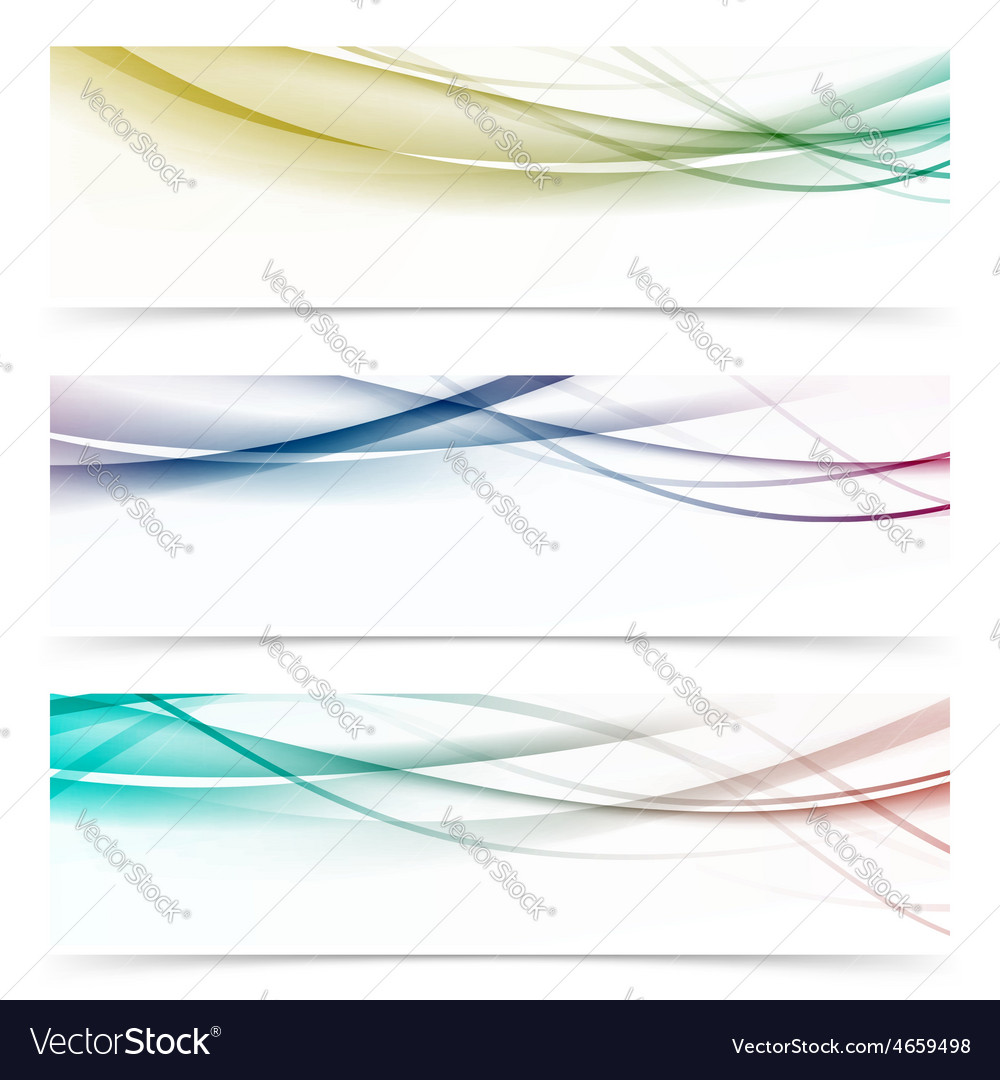 Speed abstract swoosh wave contemporary header set vector | Price: 1 Credit (USD $1)
