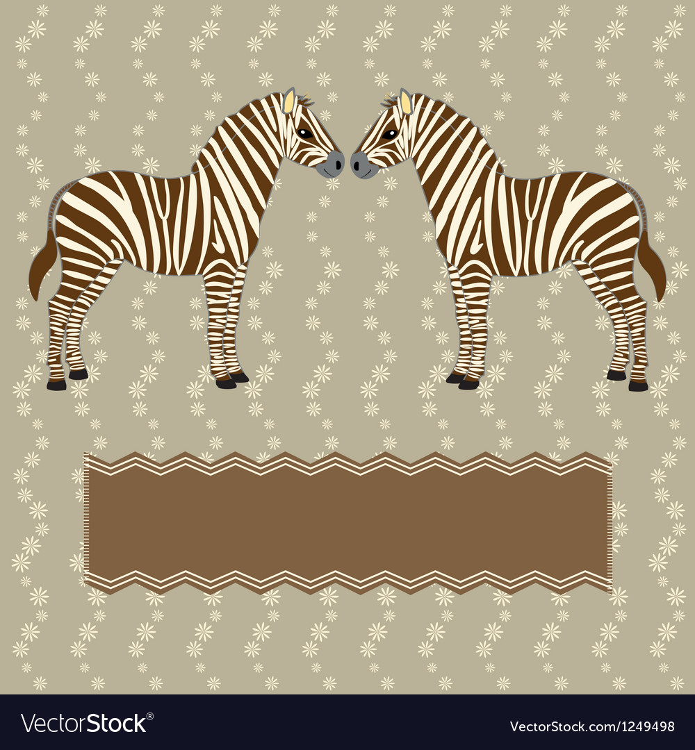 Zebra card with flower stripes vector | Price: 1 Credit (USD $1)