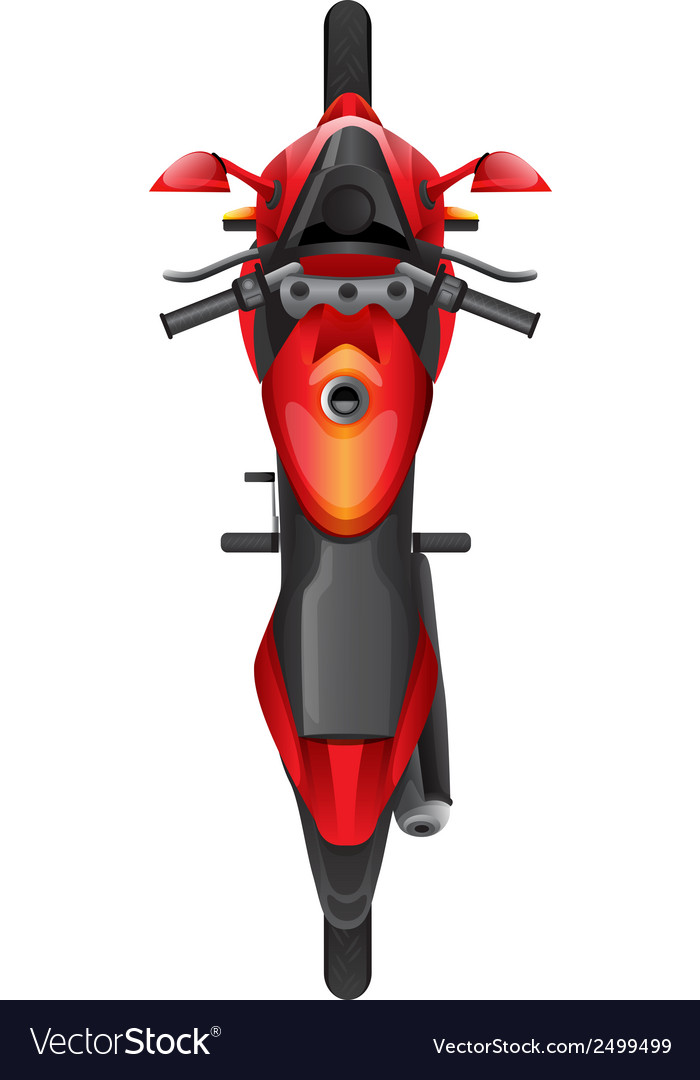A topview of a motor bike vector | Price: 1 Credit (USD $1)