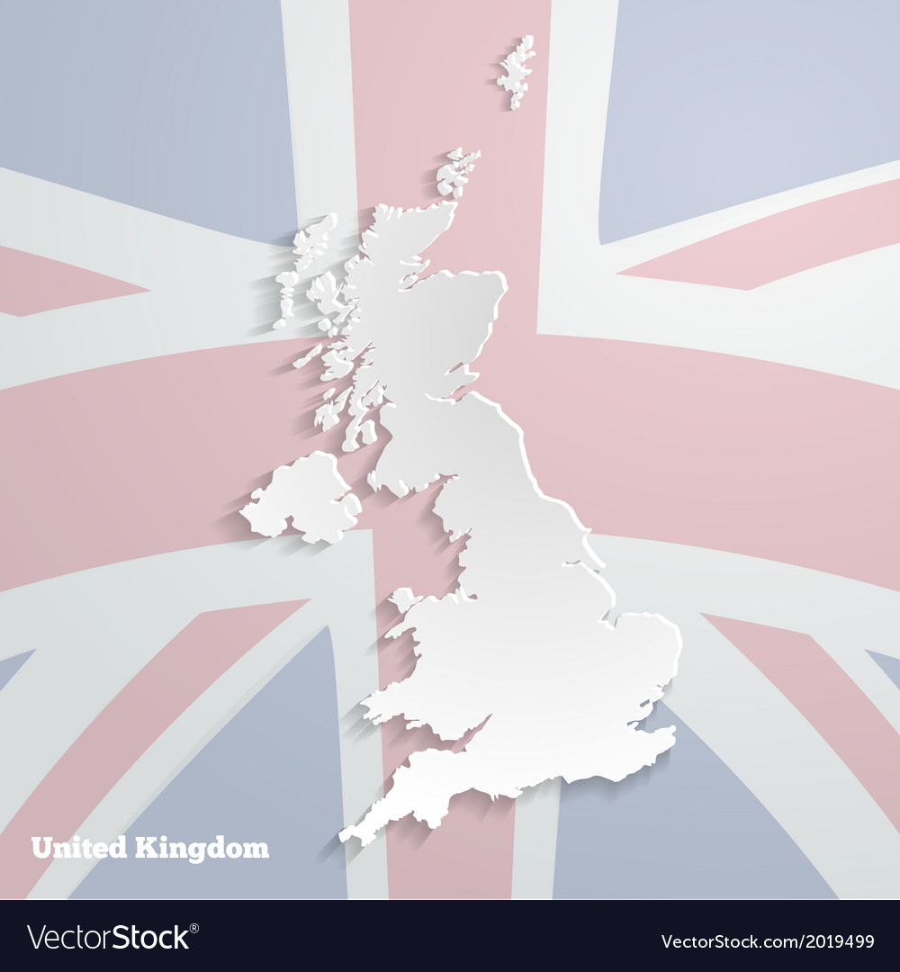 Abstract icon map of united kingdom vector | Price: 1 Credit (USD $1)