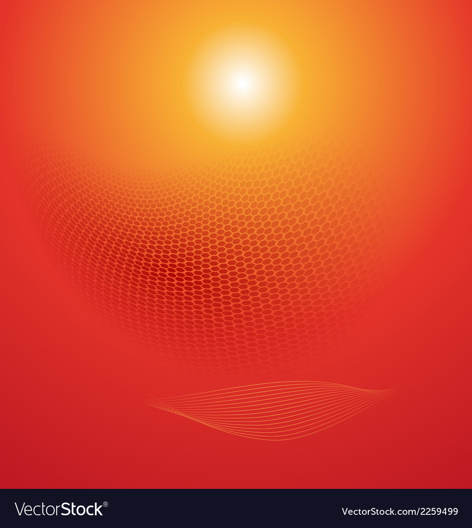 Abstract red wave background vector | Price: 1 Credit (USD $1)