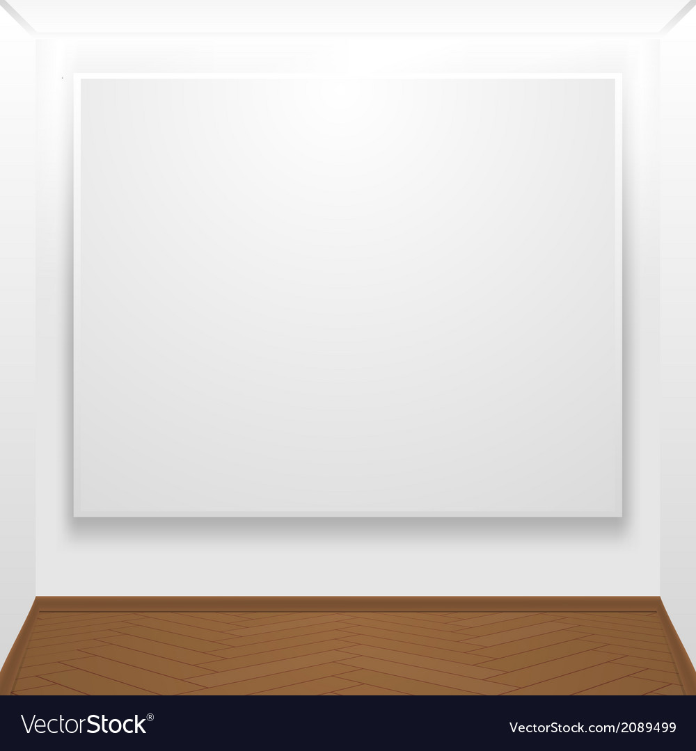 Blank canvas on display vector | Price: 1 Credit (USD $1)