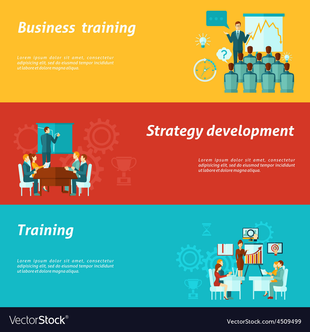Business training banners vector | Price: 1 Credit (USD $1)