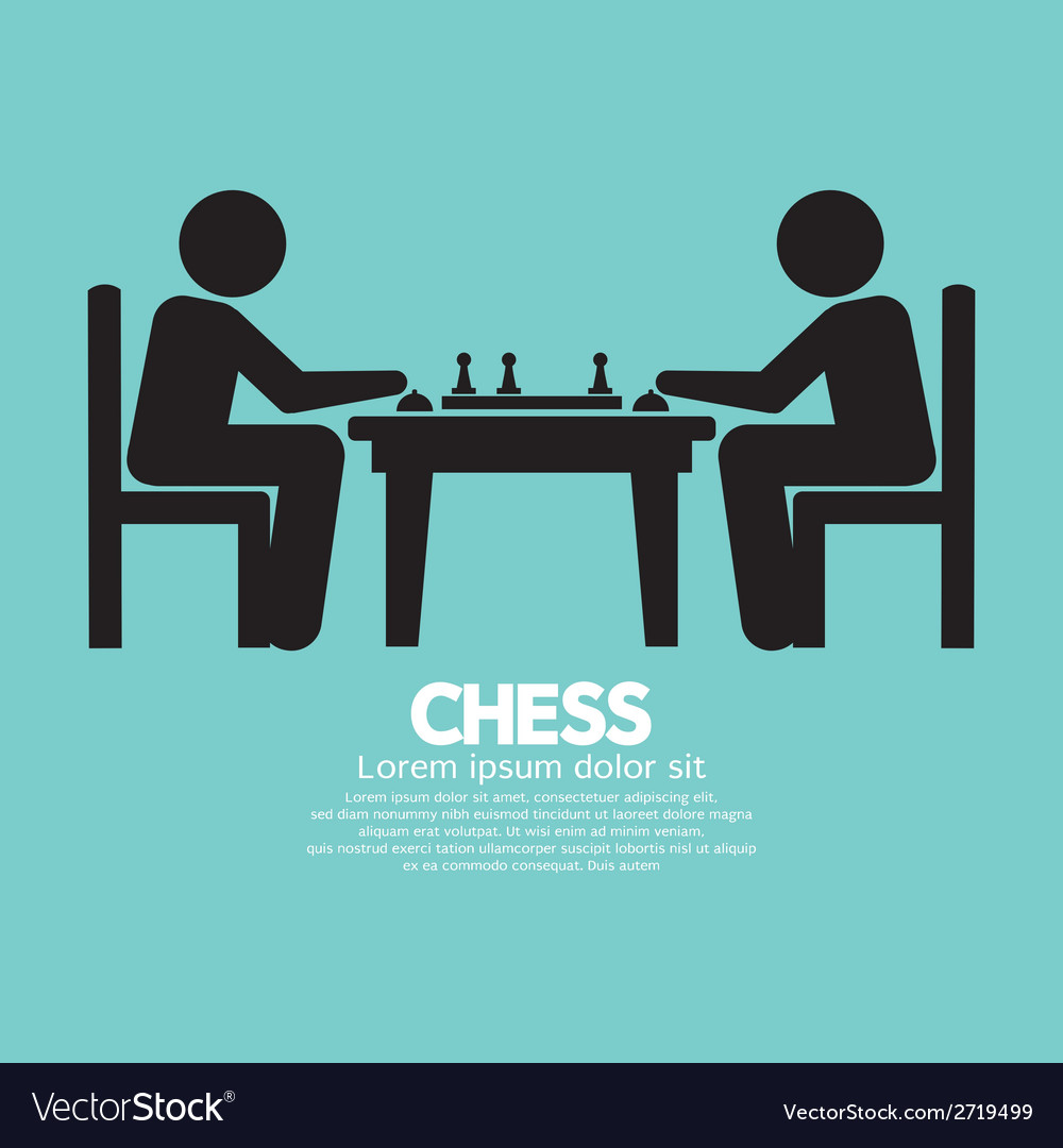 Chess player sign vector | Price: 1 Credit (USD $1)