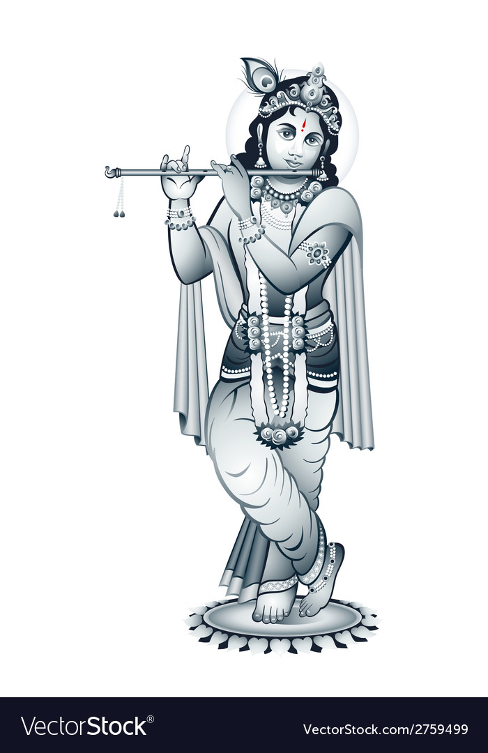 Lord krishna vector | Price: 1 Credit (USD $1)