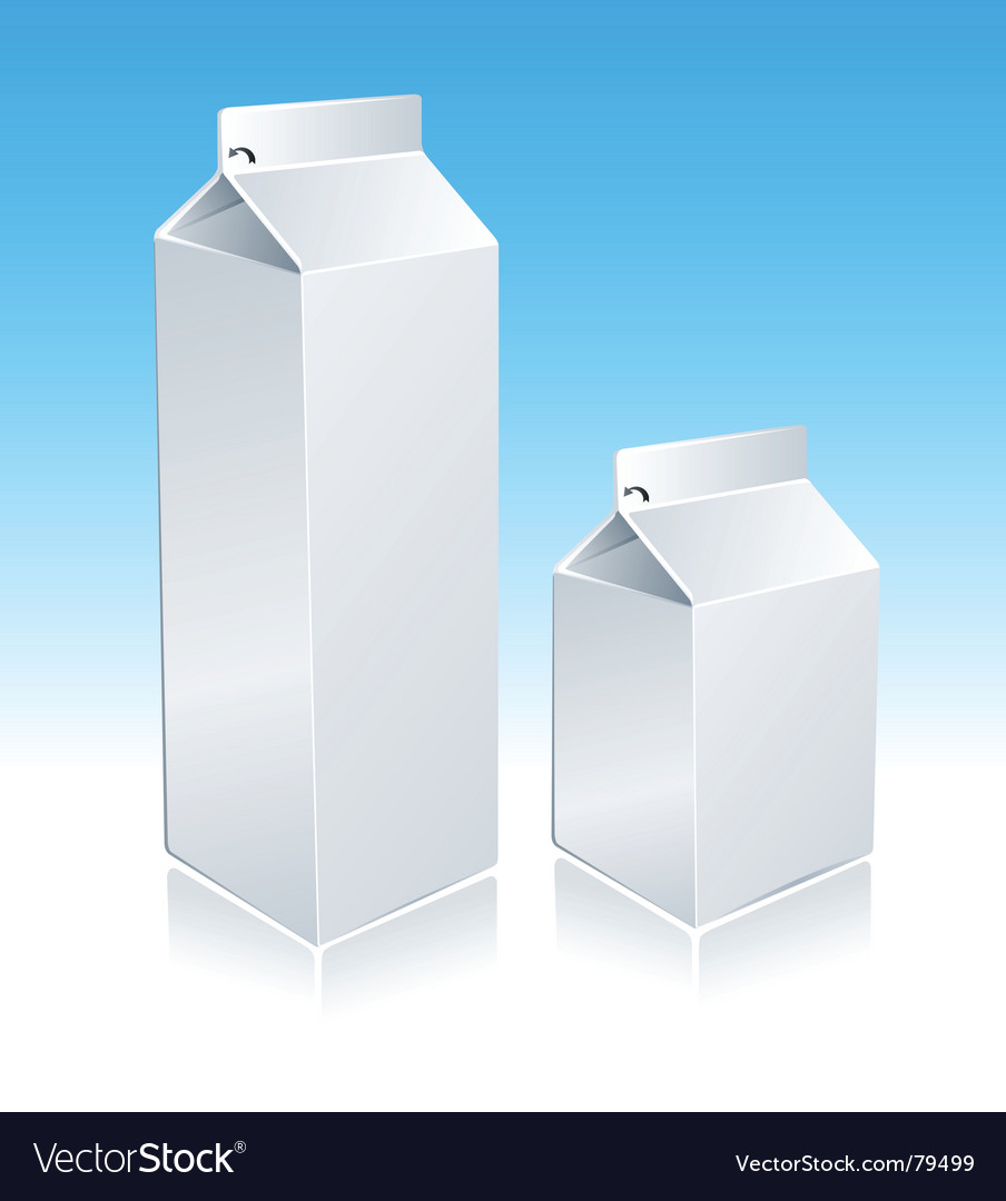 Milk package vector | Price: 1 Credit (USD $1)