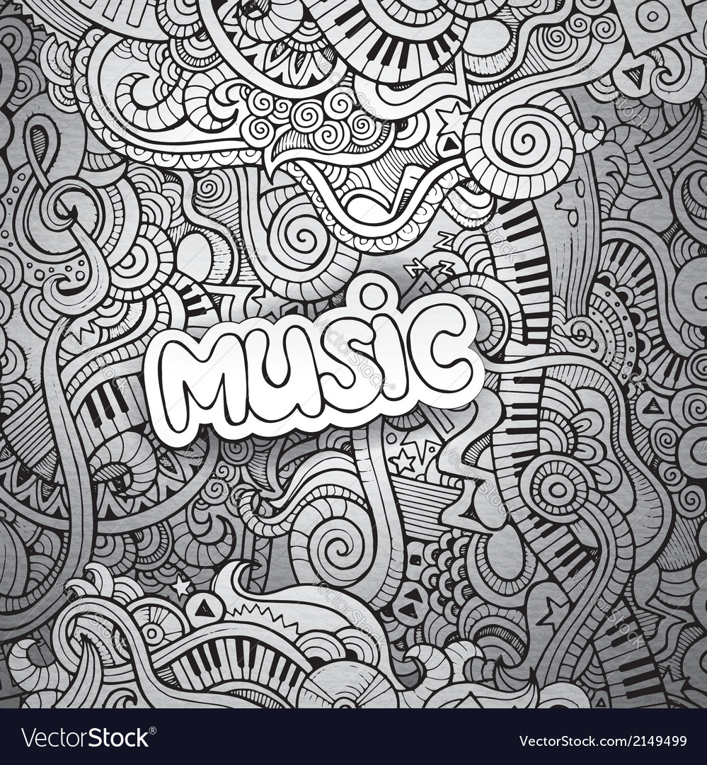 Music sketchy notebook doodles vector | Price: 1 Credit (USD $1)