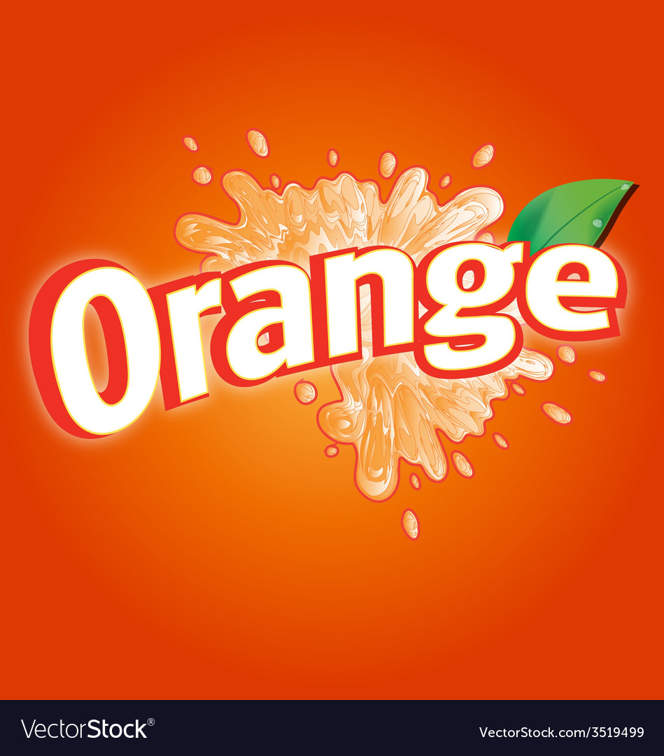 Orange drink logo vector | Price: 1 Credit (USD $1)