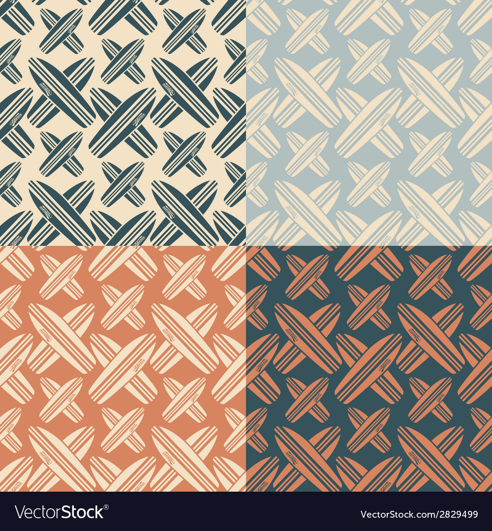 Seamless pattern with the image of surfboard vector | Price: 1 Credit (USD $1)