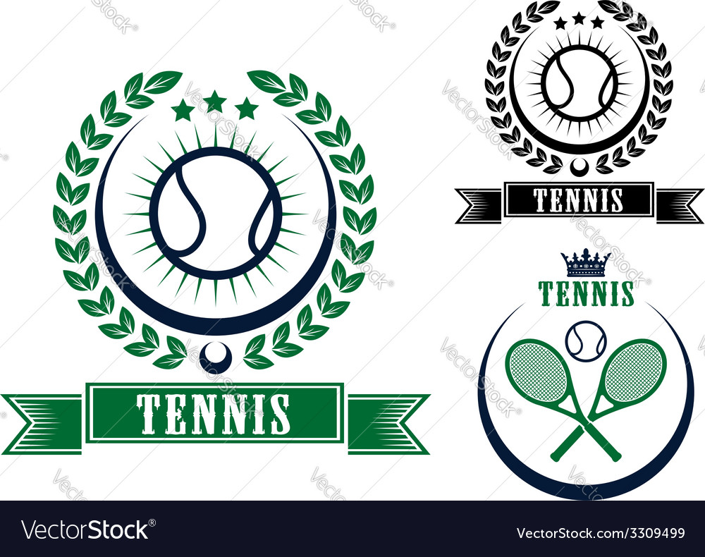 Tennis sports emblems or badges vector   Price: 1 Credit (USD $1)