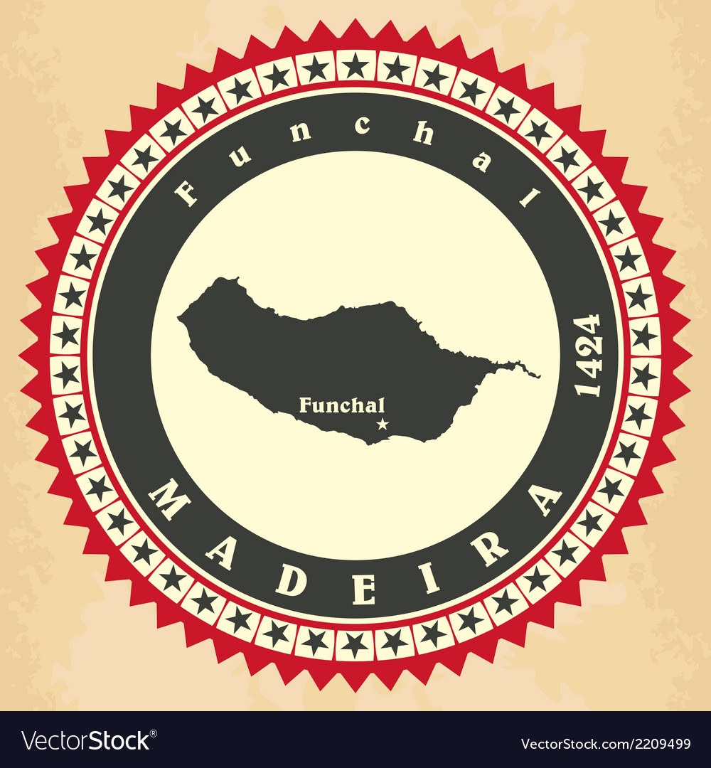 Vintage label-sticker cards of madeira vector | Price: 1 Credit (USD $1)
