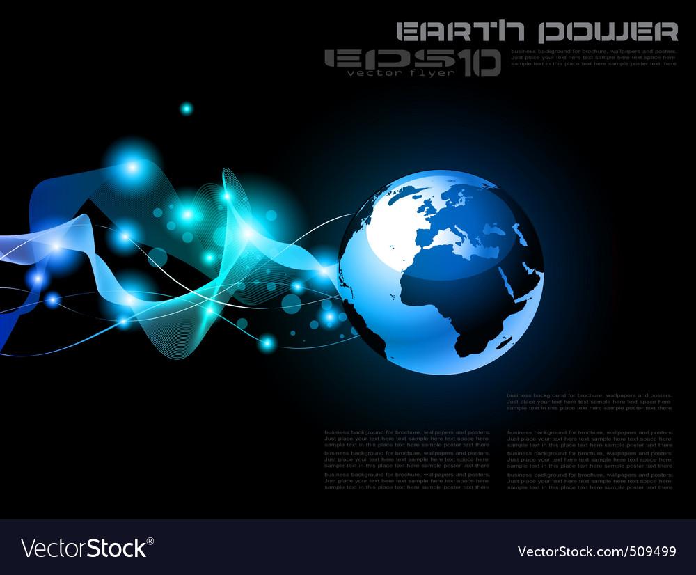 World globe vector | Price: 1 Credit (USD $1)