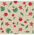 Seamless pattern sketch with fruit and berries vector