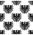 Heraldic eagles seamless pattern background vector