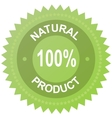 Label - 100 natural product vector