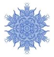 Mandala design or snowflake in dark blue vector