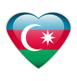 Azerbaijan flag button vector