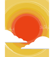 Sun in the clouds vector