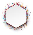 Confetti celebration background vector