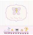 Cute baby shower card with butterfly vector