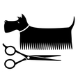 Isolated grooming dog vector