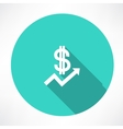 Financial report with dollar icon vector