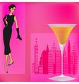 Vintage cocktails vector