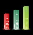 Infographic template modern box design minimal vector