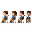 Boy on wheelchair vector