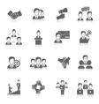 Teamwork icons black vector