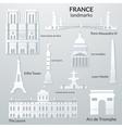 Landmarks of france vector