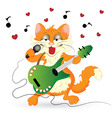Romantic cat vector