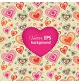 Happy valentines day card with pink heart vector