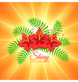Summer background with beautiful flowers and vector