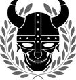 Fantasy helmet with laurel wreath vector