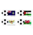 Soccer ball of virgin islands western sahara vector