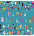 Happy birthday retro card vector