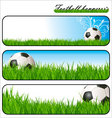 Football banners vector