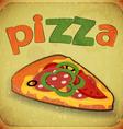 Pizza grunge vector