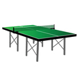 Ping pong green table tennis vector