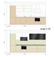 Kitchen furniture interior vector