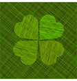 Abstract background with four-leaf clover vector