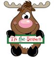 Reindeer tis the season vector